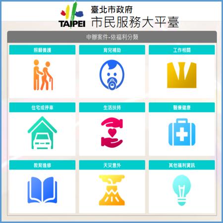 臺北市政府市民服務大平台(另開新視窗)